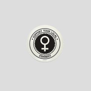 Support Feminist Mini Button