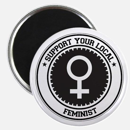 """Support Feminist 2.25"""" Magnet (10 pack)"""