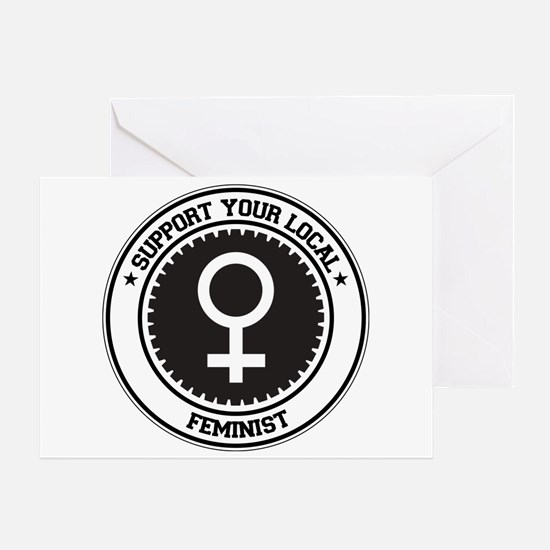 Support Feminist Greeting Card