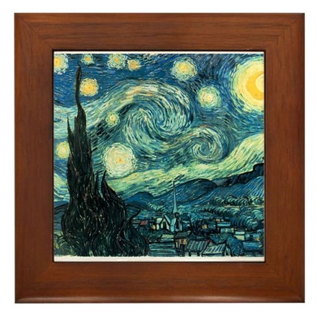 Starry Night Framed Tile
