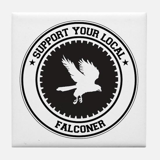 Support Falconer Tile Coaster