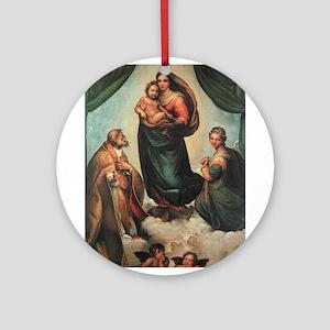 Sistine Madonna Ornament (Round)