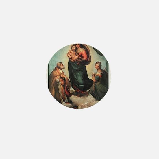 Sistine Madonna Mini Button