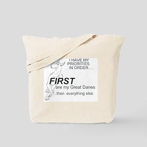 Priorities Great Danes Tote Bag