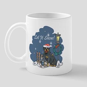 Let It Snow Rottweiler Mug