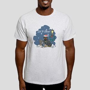 Let It Snow Rottweiler Light T-Shirt