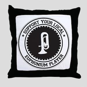 Support Euphonium Player Throw Pillow