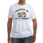 Property of Santa's Workshop Fitted T-Shirt