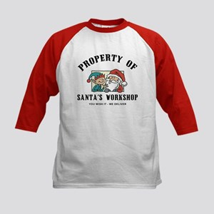 Property of Santa's Workshop Kids Baseball Jersey
