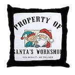 Property of Santa's Workshop Throw Pillow