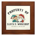 Property of Santa's Workshop Framed Tile