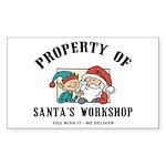 Property of Santa's Workshop Rectangle Sticker