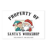 Property of Santa's Workshop Postcards (Package of