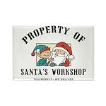 Property of Santa's Workshop Rectangle Magnet (10