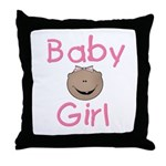 Baby Girl (African American) Throw Pillow