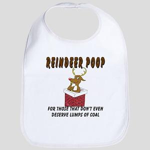 Reindeer Poop Bib