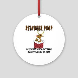 Reindeer Poop Ornament (Round)