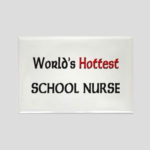 World's Hottest School Nurse Rectangle Magnet