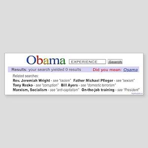 Obama Search Bumper Sticker