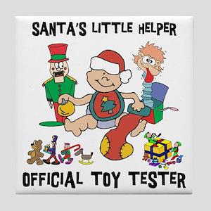 Santa's Little Helper Tile Coaster