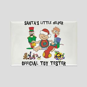 Santa's Little Helper Rectangle Magnet