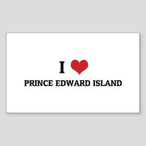 I Love Prince Edward Island Rectangle Sticker