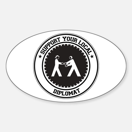Support Diplomat Oval Decal