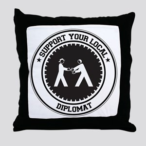 Support Diplomat Throw Pillow