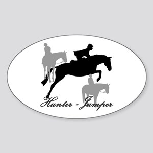Hunter Jumper Trio Script Sticker (Oval)