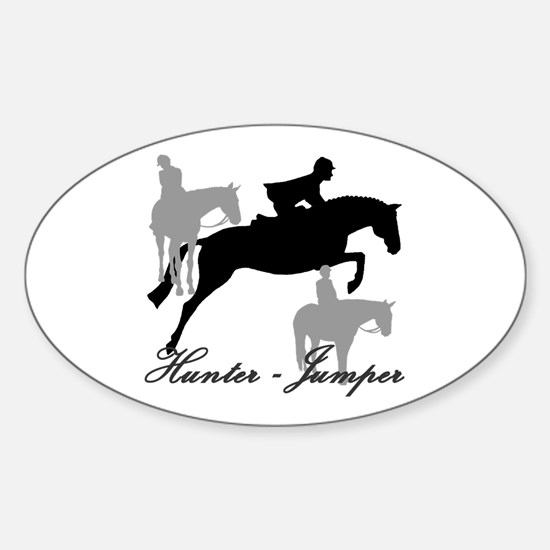 Hunter Jumper Trio Script Sticker (Oval)