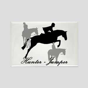 Hunter Jumper Trio Script Rectangle Magnet