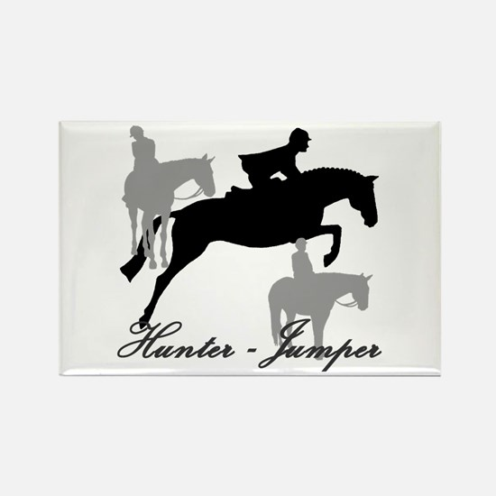 Hunter Jumper Trio Script Rectangle Magnet