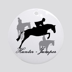 Hunter Jumper Trio Script Ornament (Round)