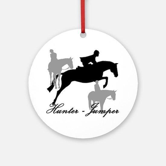 Hunter Jumper Trio Script Ornament (Round)