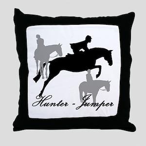 Hunter Jumper Trio Script Throw Pillow