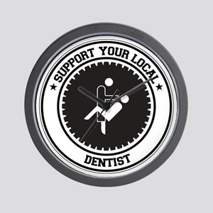 Support Dentist Wall Clock