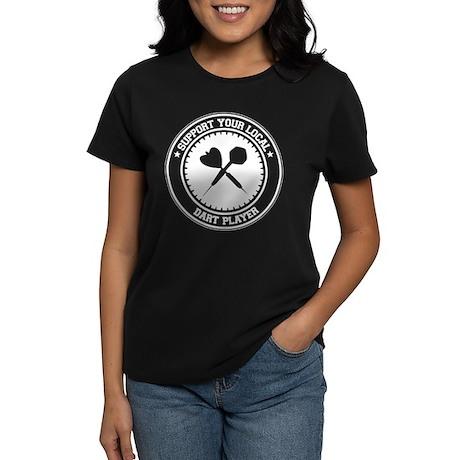 Support Dart Player Women's Dark T-Shirt