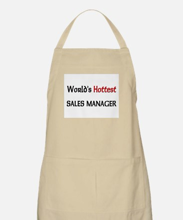 World's Hottest Sales Manager BBQ Apron