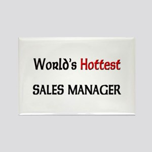 World's Hottest Sales Manager Rectangle Magnet