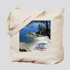 Kayaks on the Lake Tote Bag