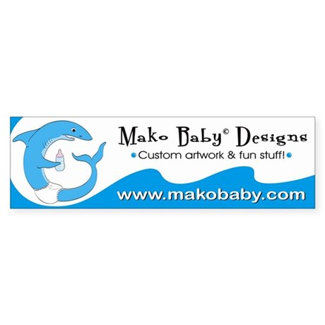 Mako Baby Shark Bumper Sticker