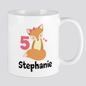 5th Birthday Girls Fox Mugs