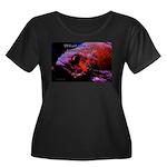 Suckerfish Women's Plus Size Scoop Neck Dark T-Shi
