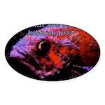 Suckerfish Oval Sticker (10 pk)