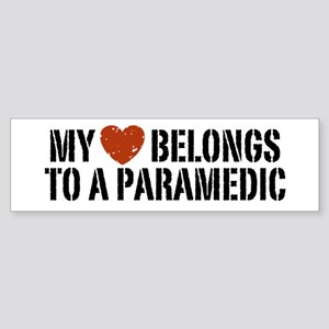 My Heart Belongs to a Paramedic Bumper Sticker