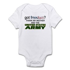 Got Freedom? Army (Mother) Infant Creeper