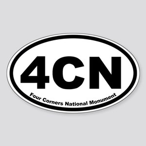 Four Corners National Monument Oval Sticker