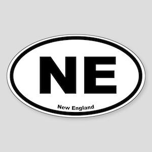 New England Oval Sticker