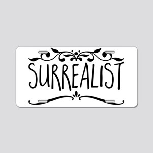 Surrealist Aluminum License Plate