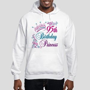 95th Birthday Princess Hooded Sweatshirt